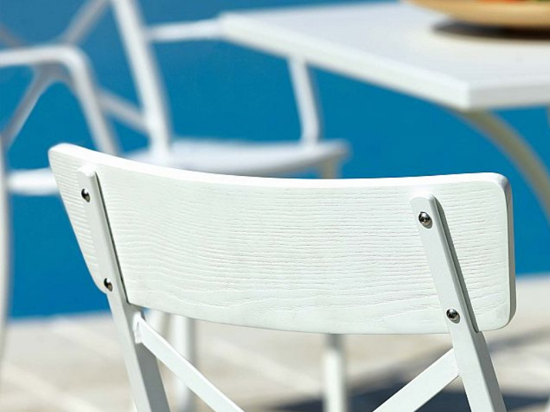 Wood a incrocio MG122 schienale bianco