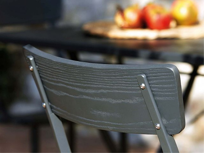 Sedia Mogan Wood a incrocio MG122 schienale nero