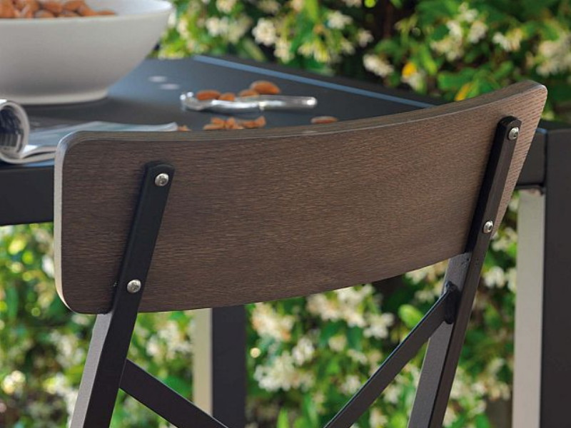 Sedia Mogan Wood a incrocio MG122 schienale particolare
