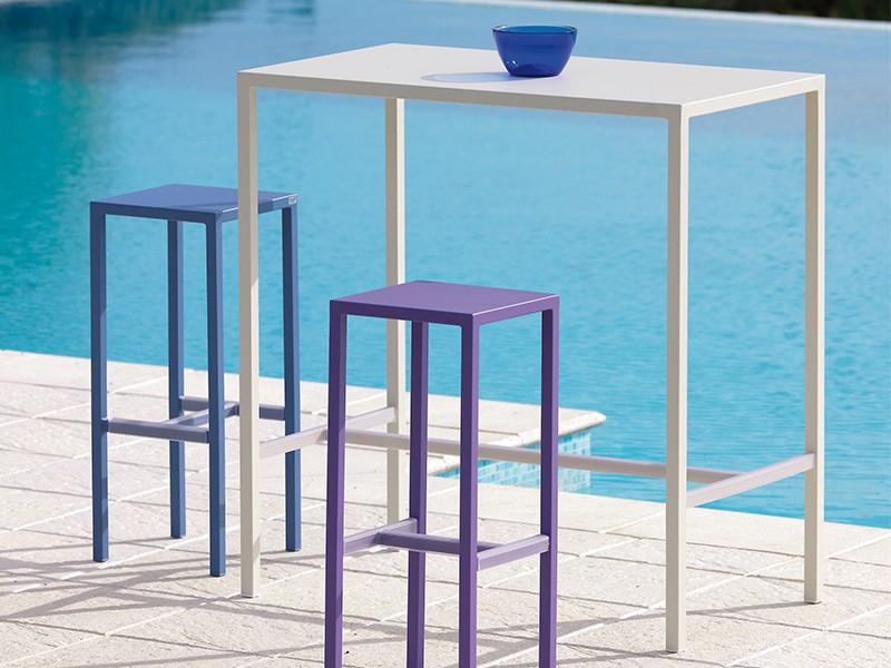 Tavolo alto vermobil con poggiapiedi modello seaside - Tavolo account bianco ...