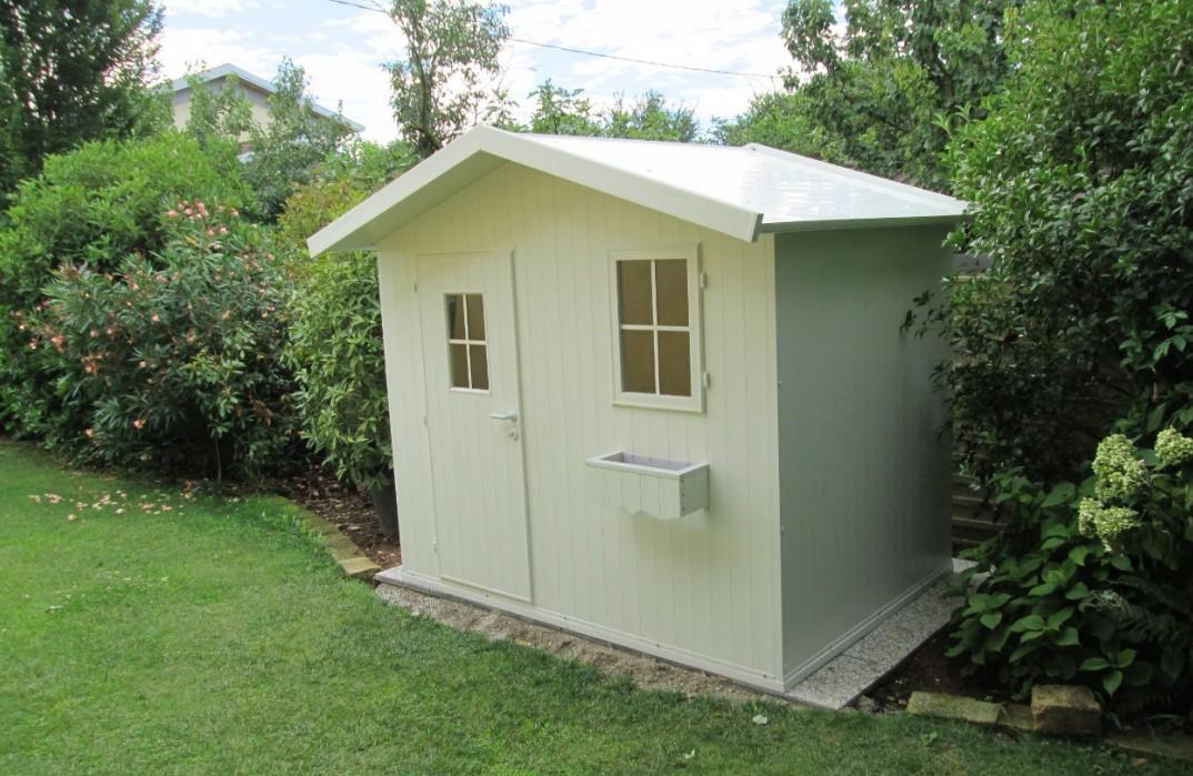 casetta da giardino realizzata in pvc