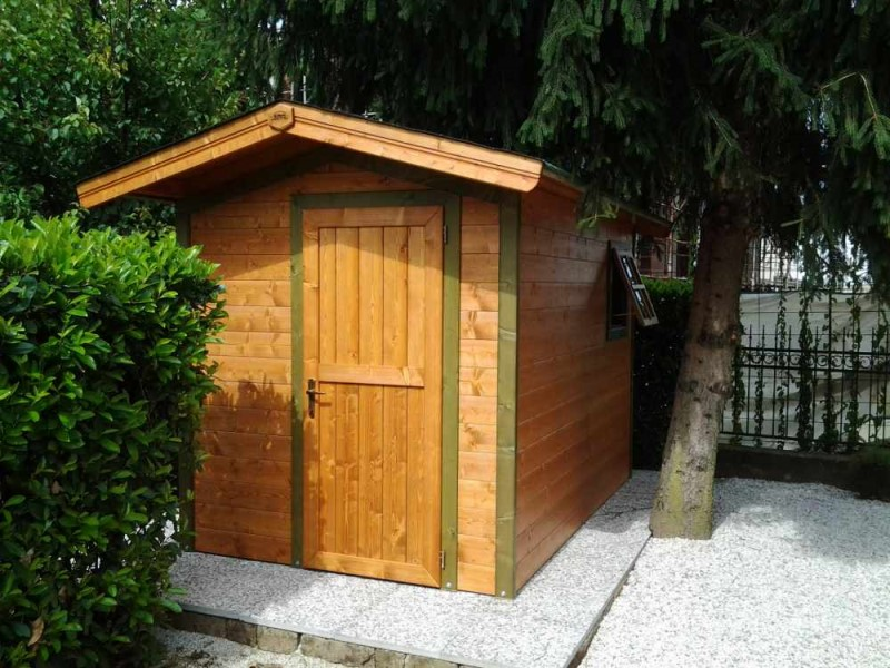 casetta in legno fiorin a pannelli con porta singola