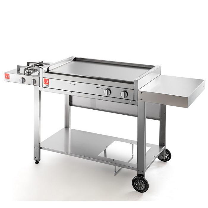 Barbecue Airone base 80 con carrello aperto e due fuochi CA-80f2