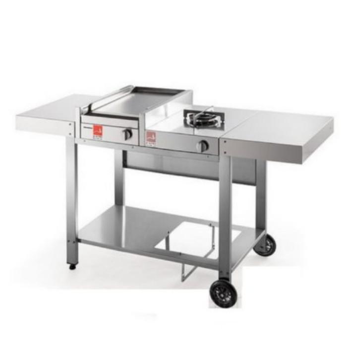 Barbecue serie 30 con carrello aperto mix e un 1 fuoco Airone