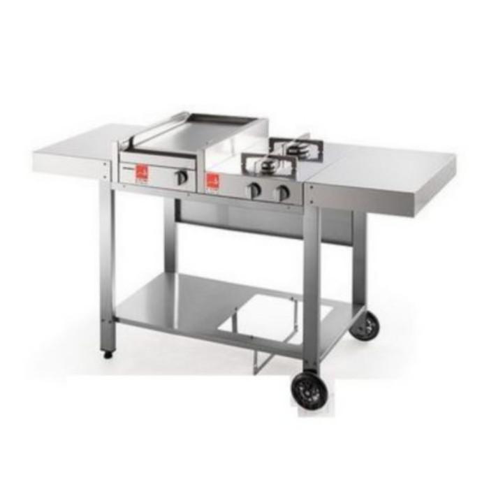 Barbecue serie 30 con carrello aperto mix e un 2 fuochi Airone