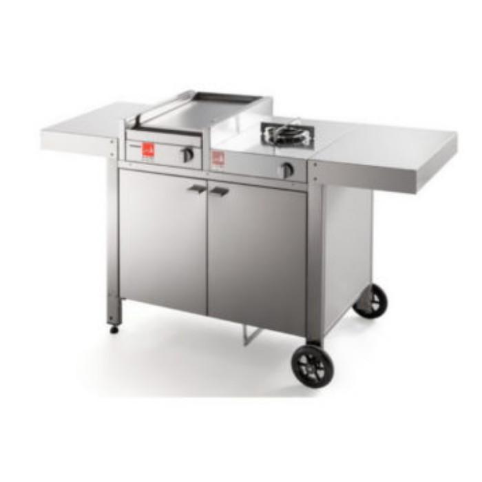 Barbecue serie 30 con carrello chiuso mix e un fuoco Airone