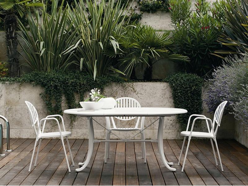 Poltrona da giardino Olympia di Fast bianca arredo 3500