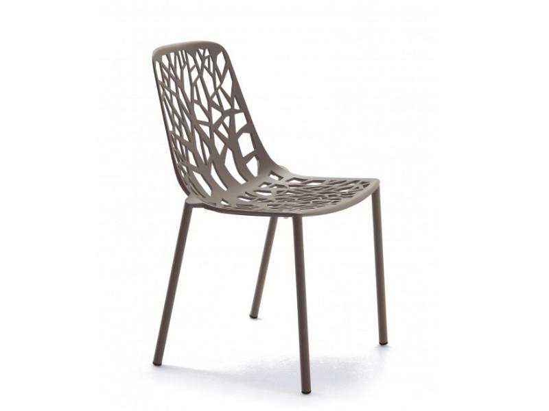Sedia in alluminio forest oro perlato