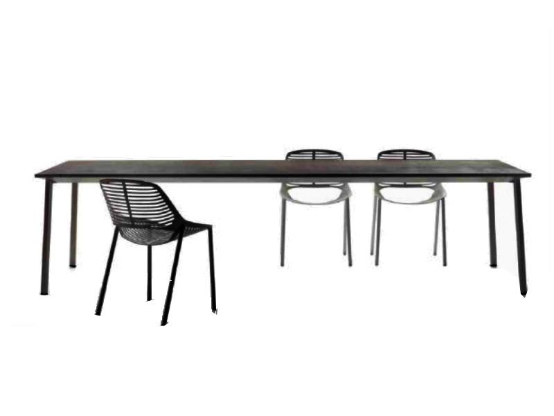 Tavolo Tile di Fast rettangolare grigio metallo 872010