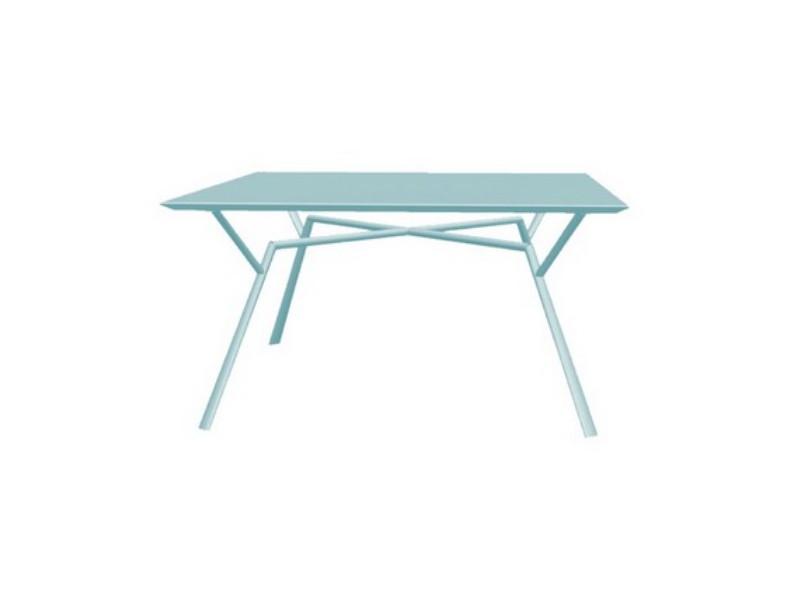 Tavolo quadrato RADICE QUADRA in alluminio verniciato di Fast azzurro pastello