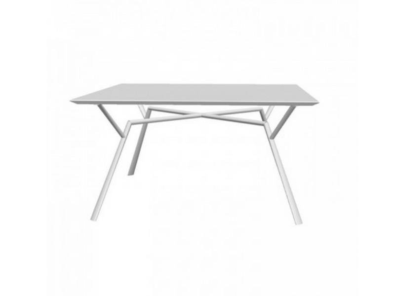 Tavolo quadrato RADICE QUADRA in alluminio verniciato di Fast grigio polvere