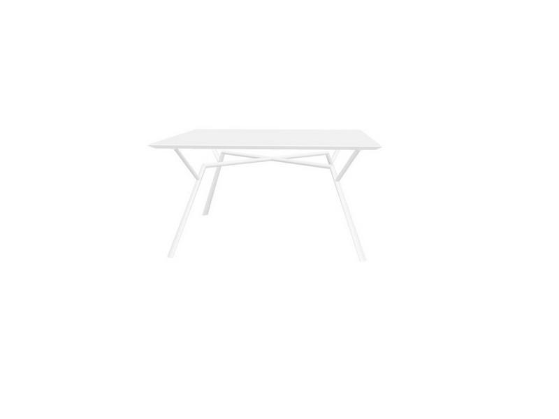 Tavolo quadrato RADICE QUADRA in alluminio verniciato di Fast bianco