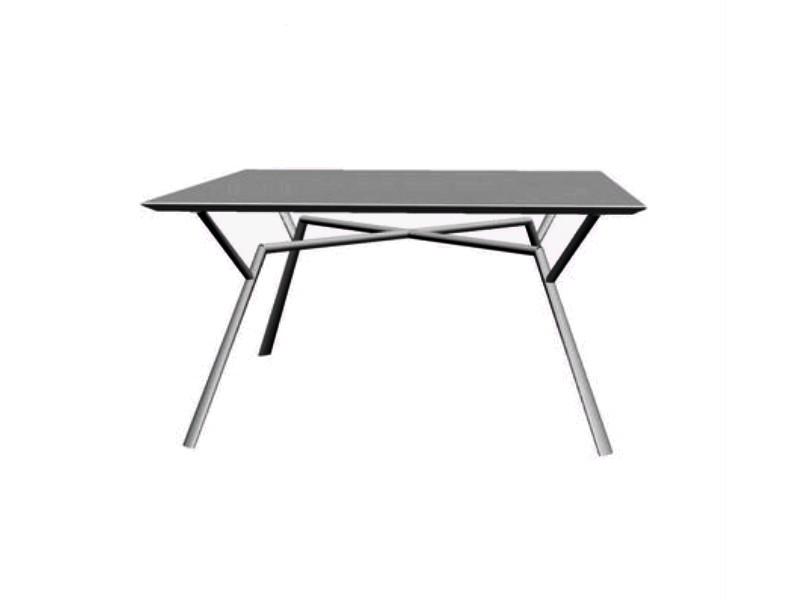 Tavolo quadrato RADICE QUADRA in alluminio verniciato di Fast grigio metallo
