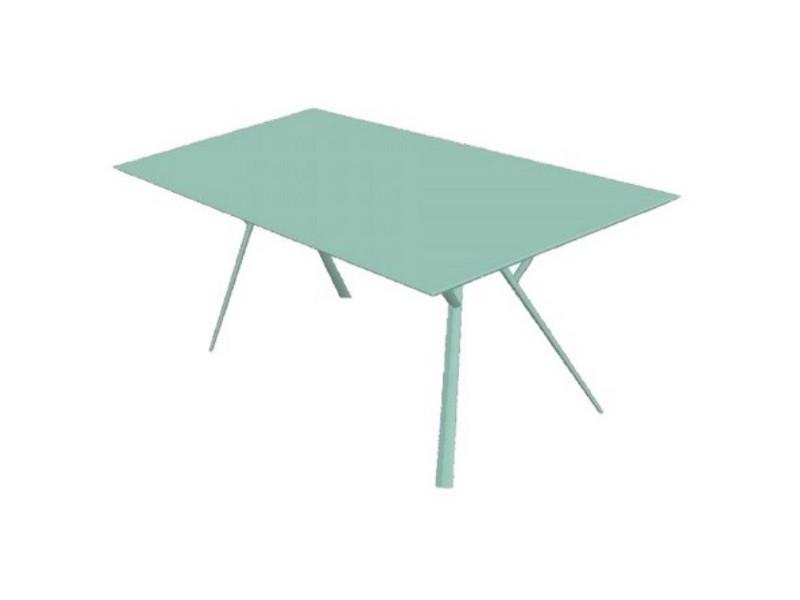 Tavolo rettangolare RADICE QUADRA in alluminio verniciato di Fast azzurro pastello