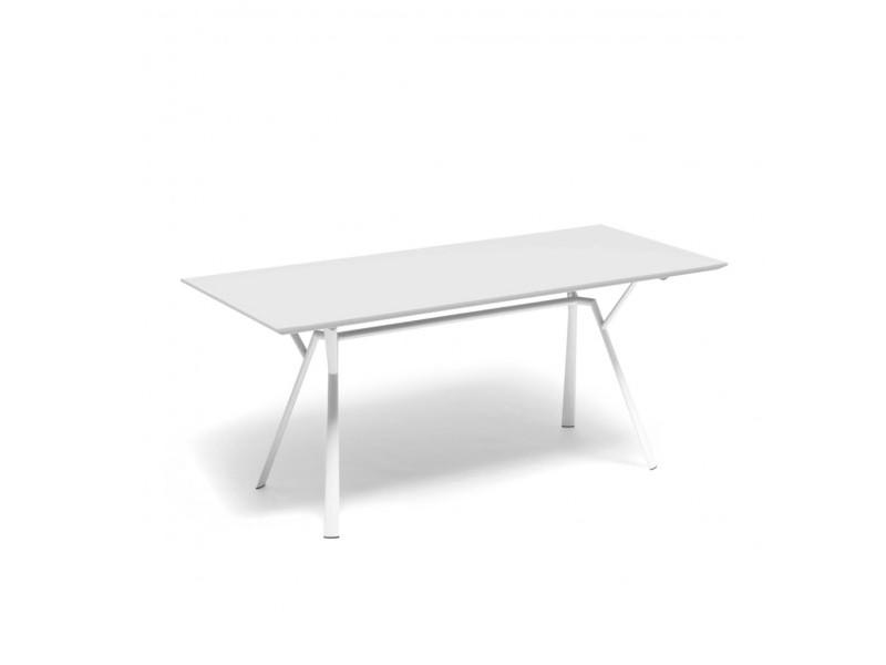 Tavolo rettangolare RADICE QUADRA in alluminio verniciato di Fast bianco