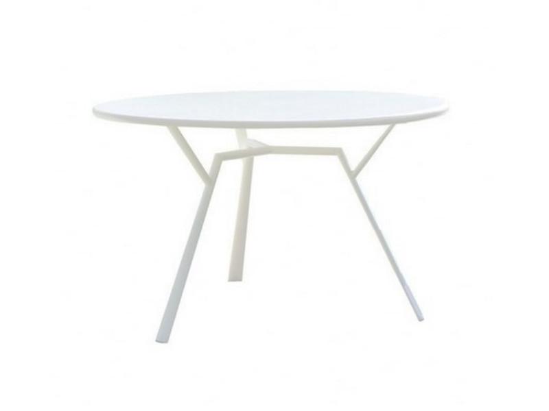 Tavolo tondo in alluminio verniciato radice quadra di fast for Tavolo tondo bianco