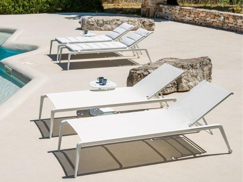 lettino Ushuaia bianco arredo piscina U500