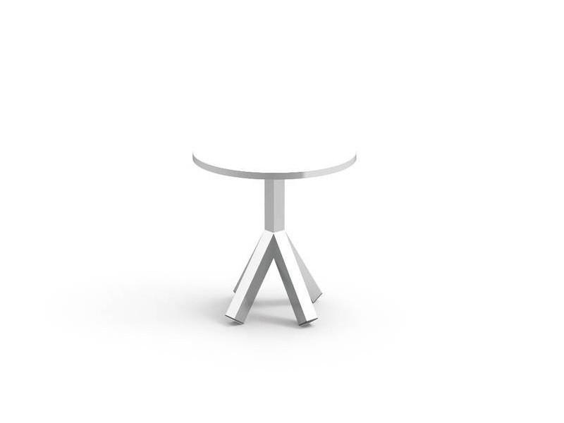 Tavolino Circle da caffè Talenti bianco