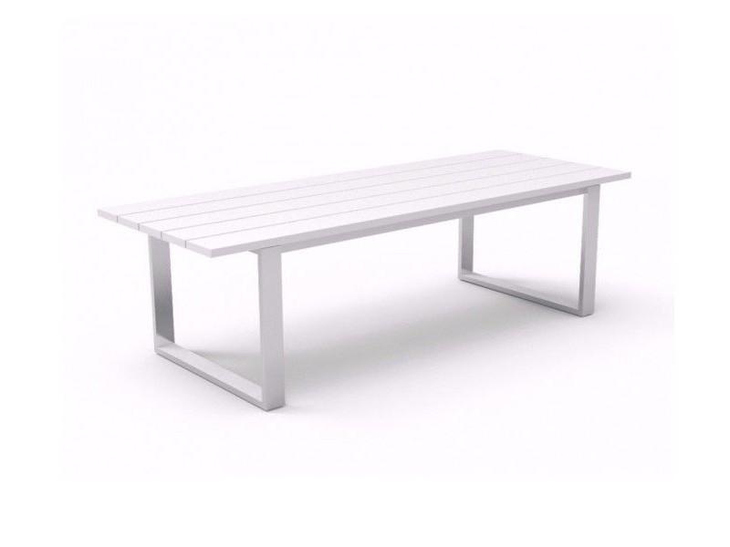 Tavolo Essence Talenti cm 270 in alluminio bianco