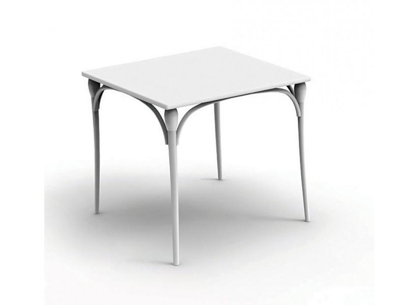 Tavolo Retrò quadrato di Talenti bianco cm 80
