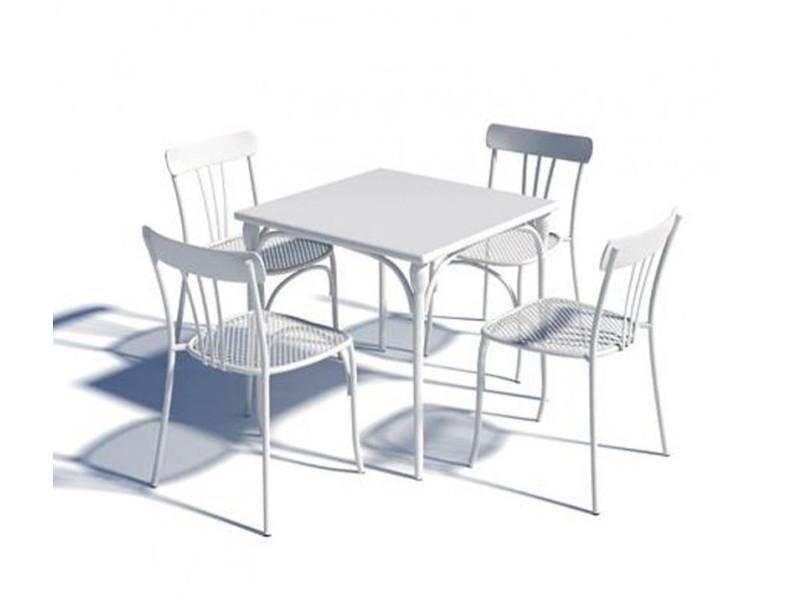 Tavolo Retrò quadrato di Talenti bianco