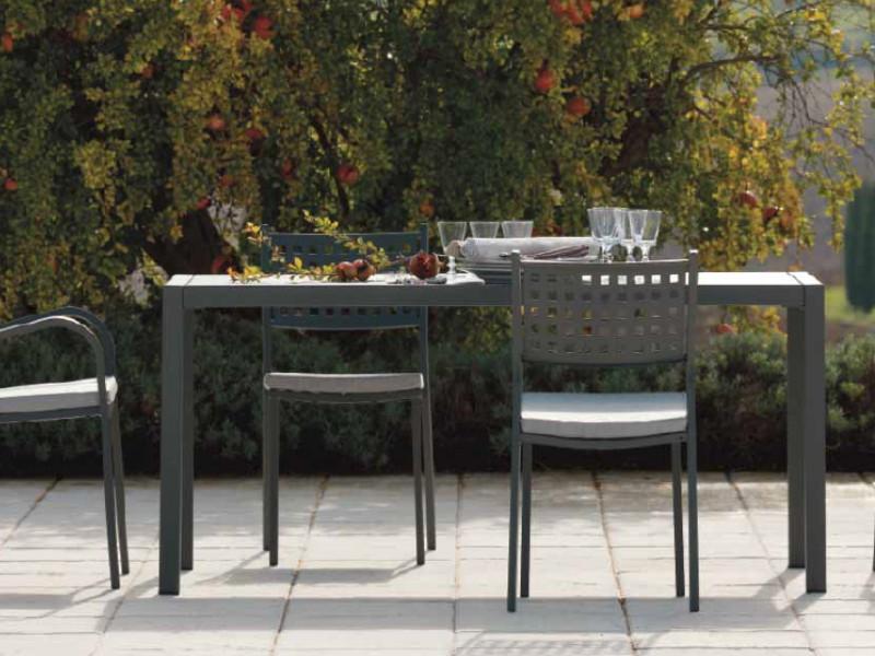 tavolo QUATRIS Vermobil 160 x 80 cm QT16080 arredo giardino
