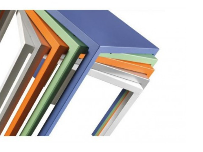 tavolo quadrato alto quatris vermobil cm 60x60x110-h