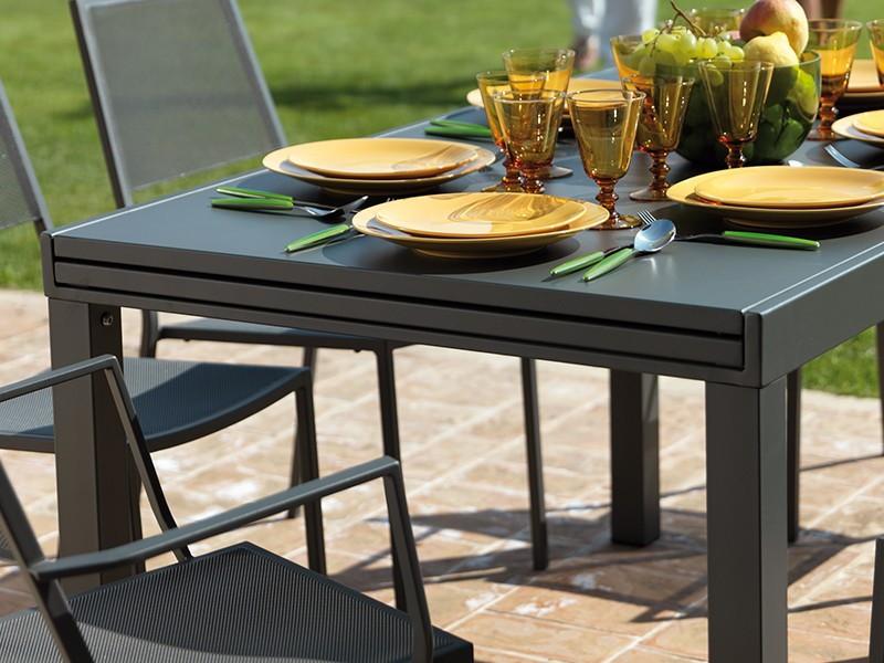 tavolo sofy allungabile cm 90-140-280 grigio antico
