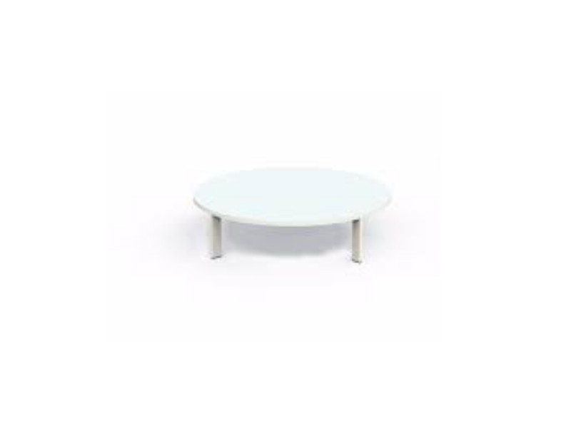 Coffee Table tavolo basso bianco diametro 120 cm EDNTC120