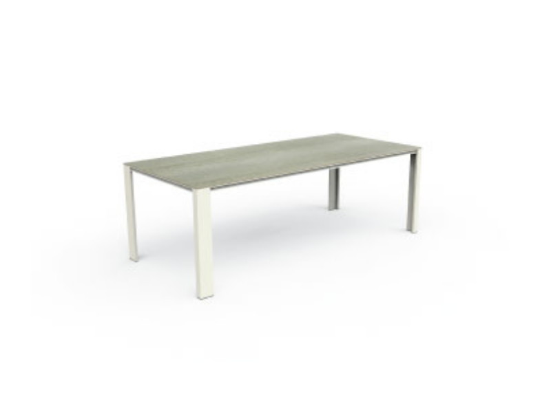 Dining table Eden Icon Talenti bianco in gres tortora