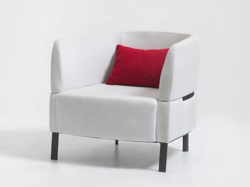 Lounge Armchair poltrona Eden Talenti EDNPL arredo bianco grafite