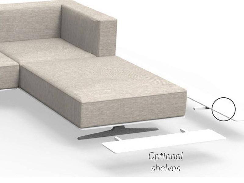 Sofa longue sinistro Eden Talenti EDNLONSX mensole