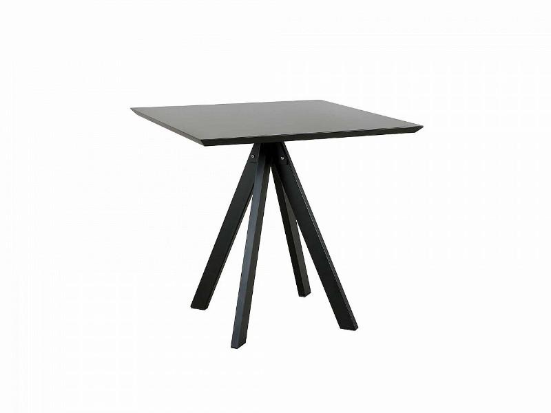 Tavolo DESIREE top in metallo Vermobil quadrato DE8080